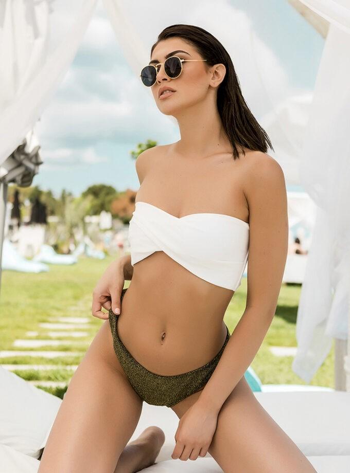 Bikini strapless in contrast color