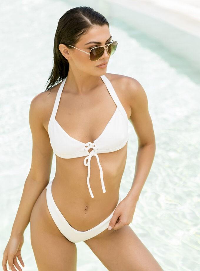 High leg bikini-Λευκό