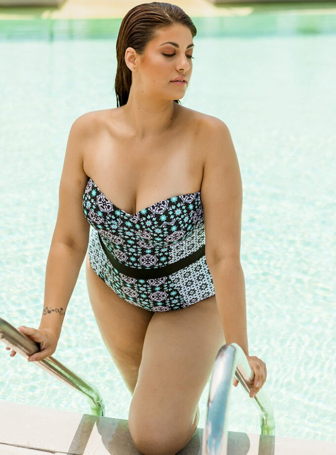 One piece with modern print