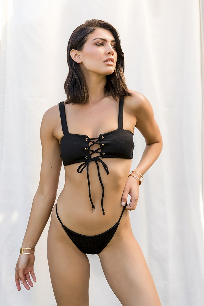 Bikini with lace up details