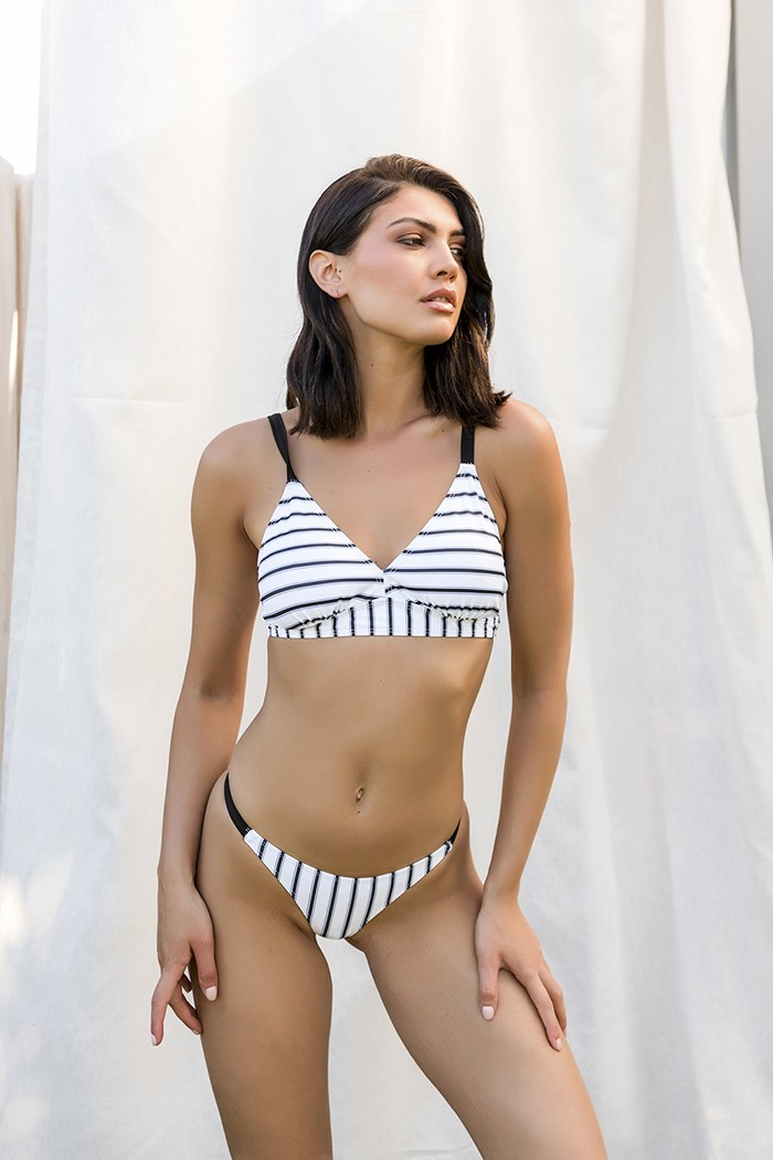 Striped sporty bikini