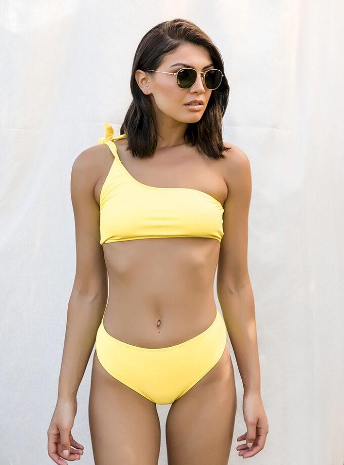 Bikini with one shoulder top