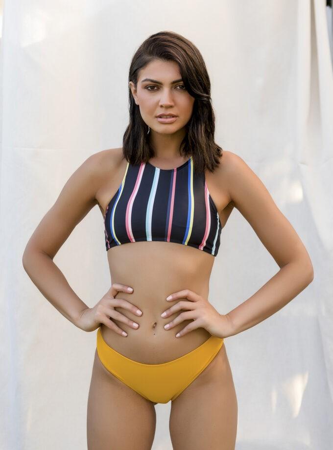 Striped sporty bikini