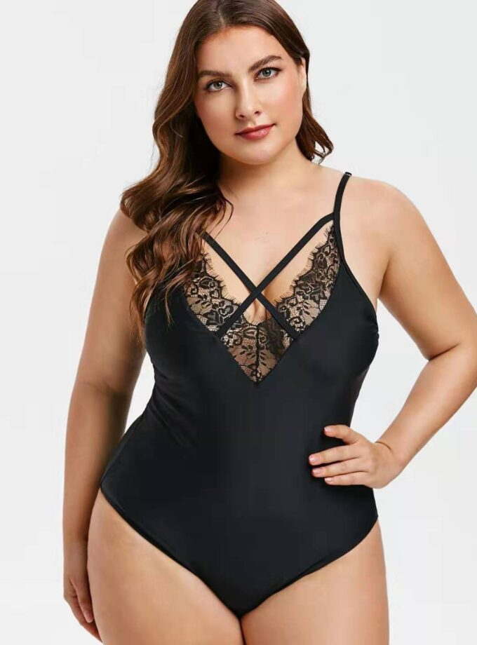 One piece with lace details