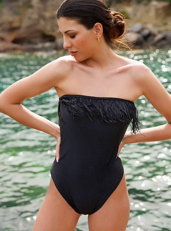 strapless one piece
