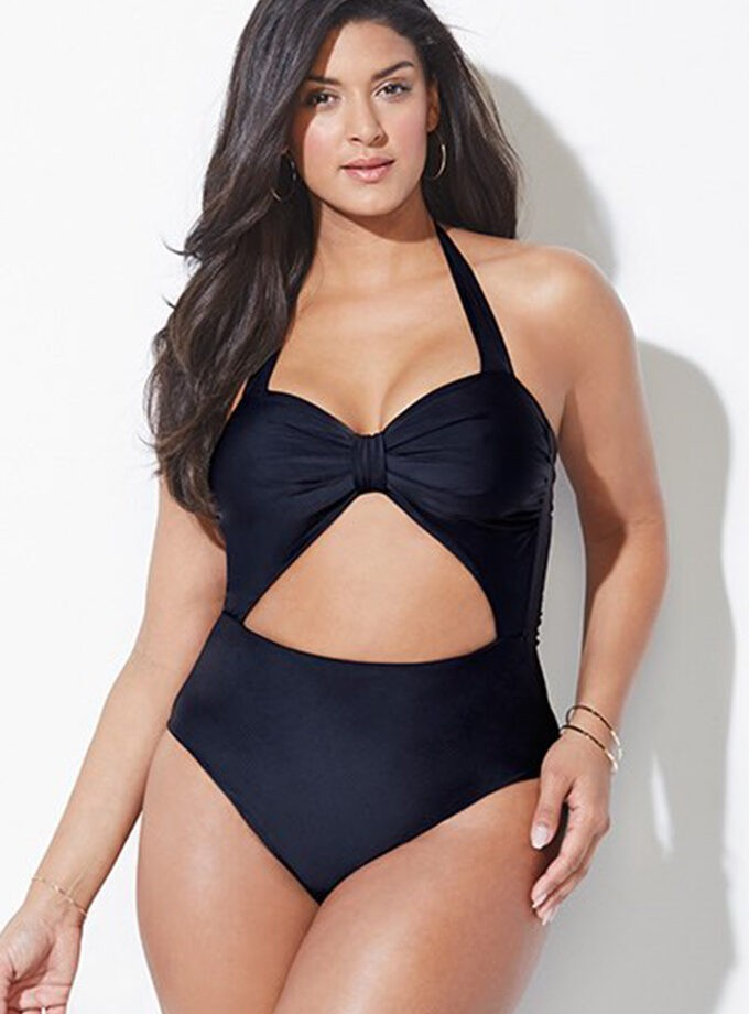 Stylish one piece knotted bust