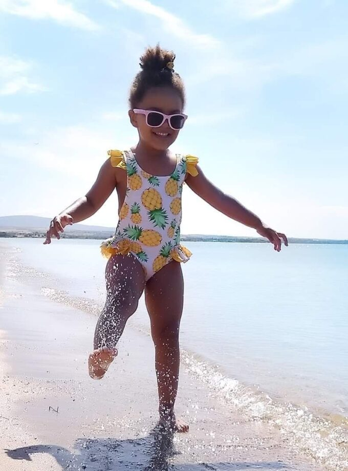 Kids Swimsuit with ruffles