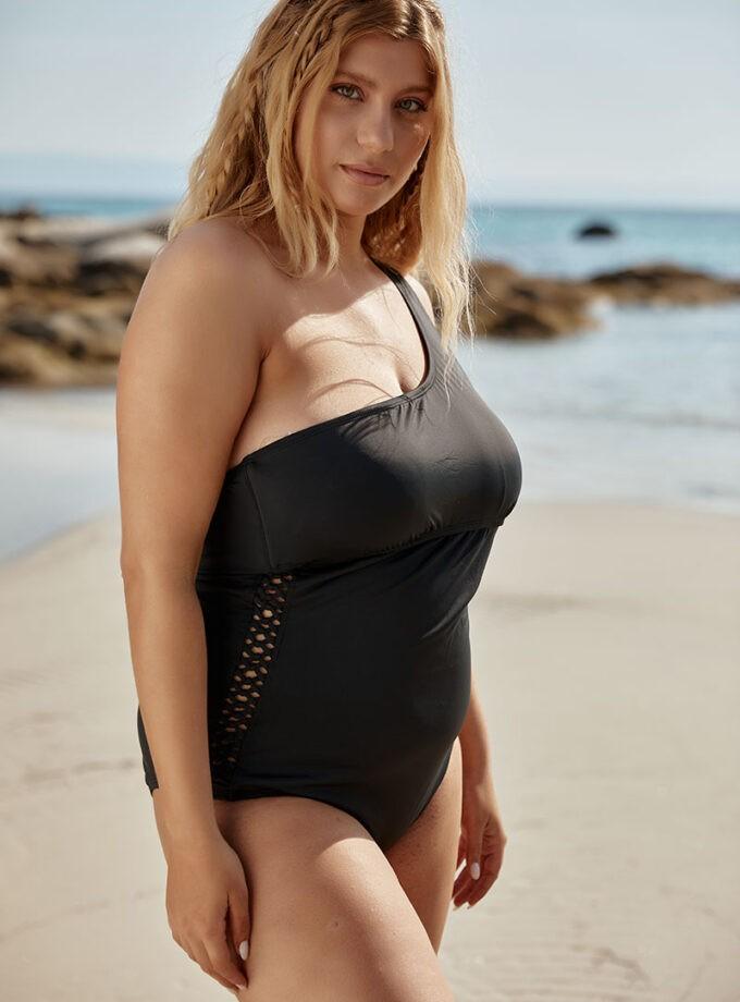 swimsuit one-shoulder cutout swimsuit