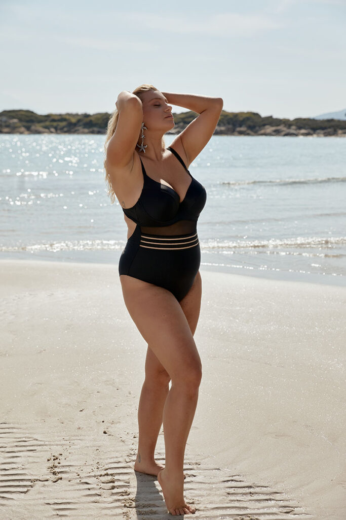 STYLISH one piece with see-through details