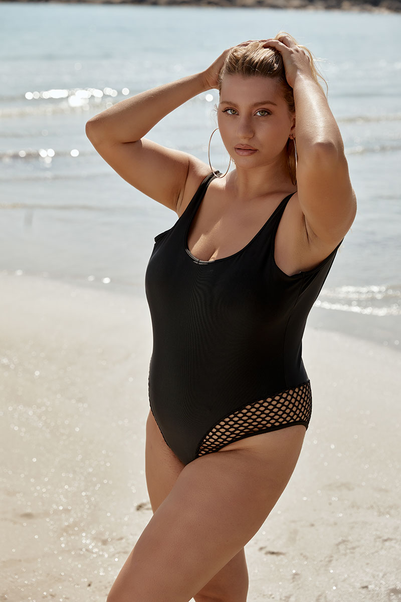Sexy one piece with low cleavage