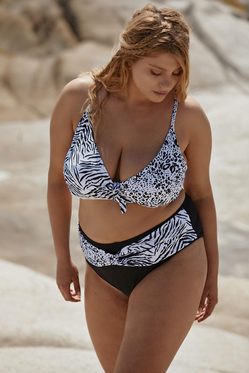 bikini with animal print