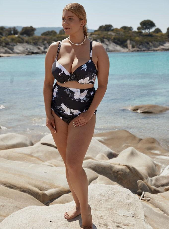 Bikini with floral print