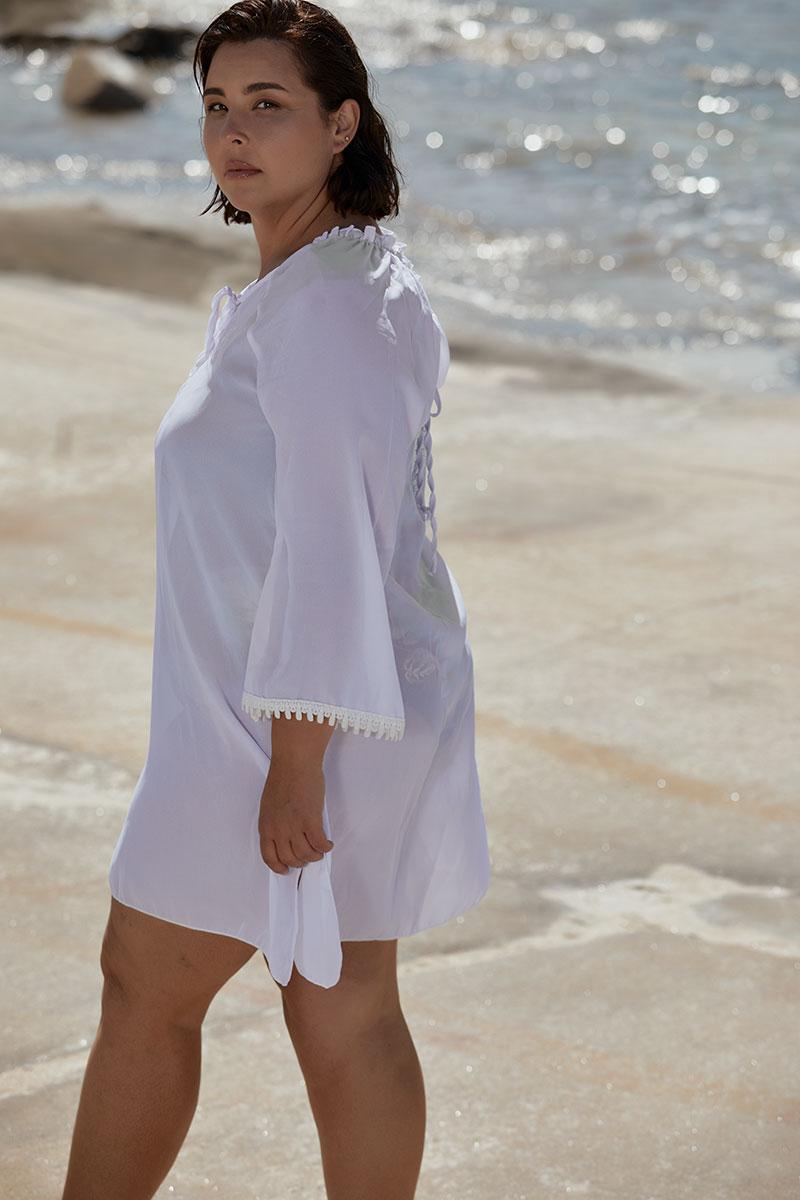 Καφτάνι Παραλίας με σχέδιο δαντέλα