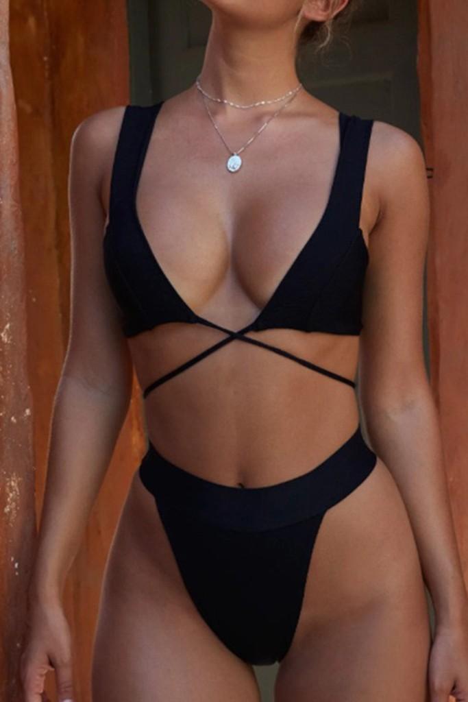 Bikini with wide straps